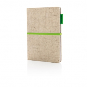 Bloc notes recyclable en jute